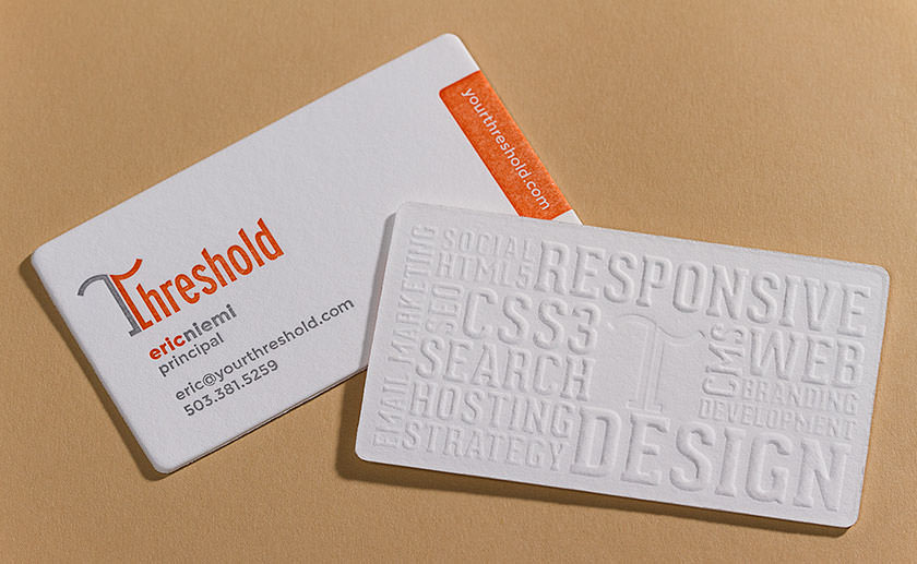 Our New Letterpress Business Cards